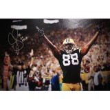 "35""x23"" (Oversized) Canvas ""Hands Up for Touchdown"" Autographed by Jermichael Finley (#88)"