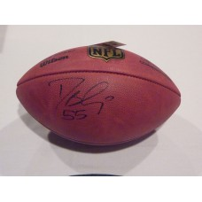 Authentic NFL Football Autographed by Desmond Bishop (#55)