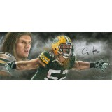 """Clay Matthews """"Storm Chaser"""" Autographed by Clay Matthews (#52) Athlete Edition Artwork by Andy Goralski (Oversized)"""