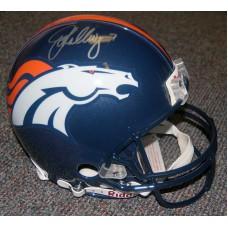 Full Size Denver Broncos Helmet Autographed by John Elway (#7)