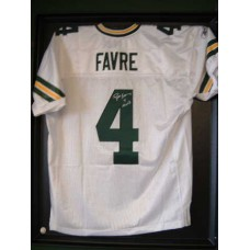 Authentic Style Packers Away Jersey Autographed by Brett Favre (#4)