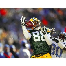 """11""""x14"""" Photo """"About to Catch"""" Autographed by Jermichael Finley (#88)"""