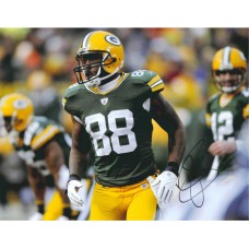 """11""""x14"""" Photo """"Looking after the Play"""" Autographed by Jermichael Finley (#88)"""