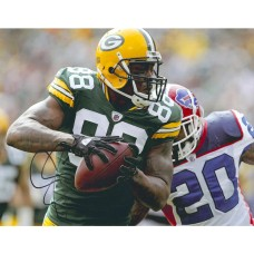 """11""""x14"""" Photo """"About to be Tackled"""" Autographed by Jermichael Finley (#88)"""