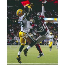 """11""""x14"""" Playoff Catch Photo Autographed by James Jones (#89)"""