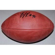 Authentic NFL Football Autographed by B.J. Raji (#90)
