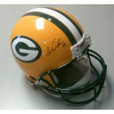 Packers Authentic Helmet Autographed by Tramon Williams (#38)